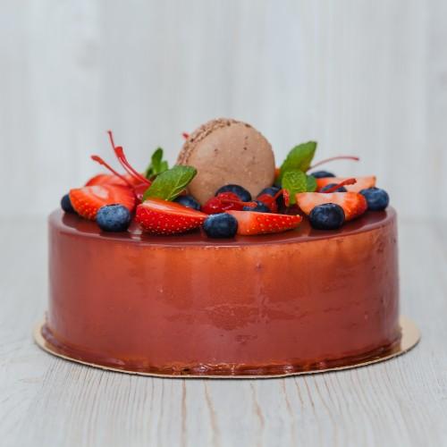 Вишнево шоколадный мусс торт